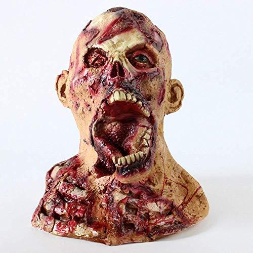 HARBORII Handmade Horror Zombie Full Head Latex Mask Walking Dead Halloween Costume Party Creepy Mask ()