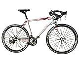 Road Bike Aluminum Commuter Bike Shimano 21 Speed 700c x 25c Racing Bicyle Sport Life White 54cm