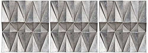 Uttermost 3 Panel - Uttermost Multi-Faceted Panel - Set of 3