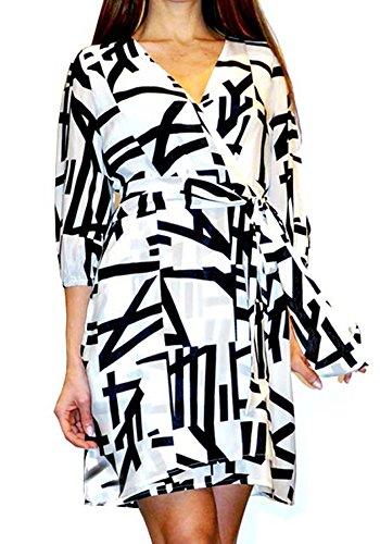 Kader Milano Pires Kleid Ana Bruna 100 Seide Frau Print g8wUq15