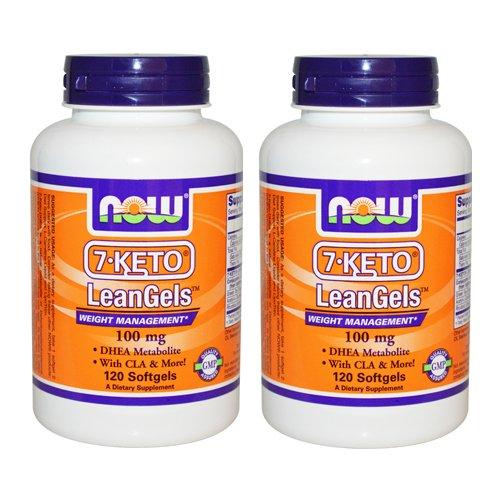 Now Foods 7-KETO LeanGel 100 mg 120 Softgels 2 Pack by NOW Foods