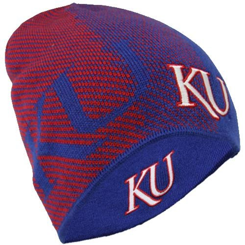 NCAA Kansas Jayhawks Men's Player Reversible Knit Cap, One Size Fits All, Royal