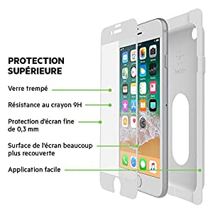 Belkin Screen Protector for iPhone 8/ 7/ 6S/ 6 - White by Belkin Inc.