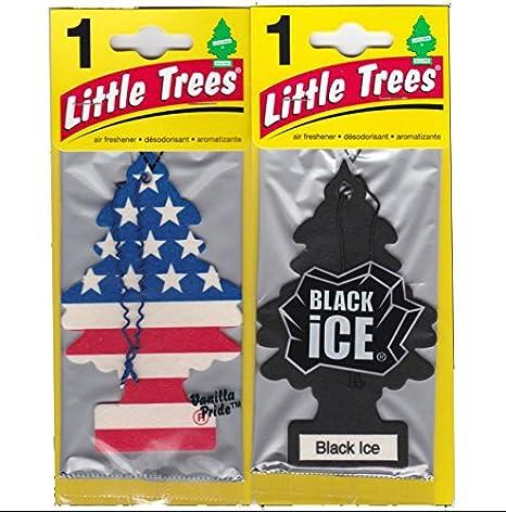 Little Trees 吊下げ式 芳香剤 エアーフレッシュナー ブラックアイス & バニラプライド [並行輸入品]
