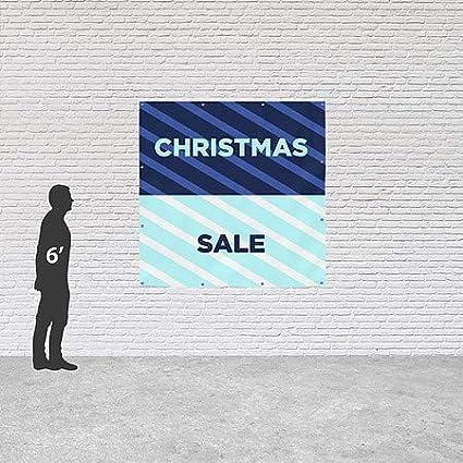 Annual Sale CGSignLab 12x8 Nautical Stripes Heavy-Duty Outdoor Vinyl Banner