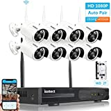 [Newest Strong Version WiFi] Wireless Security Camera System, ISOTECT 8CH Full HD 1080P Video Security System, 8pcs Outdoor/Indoor IP Security Cameras, 65ft Night Vision and Easy Remote View, 2TB HDD For Sale