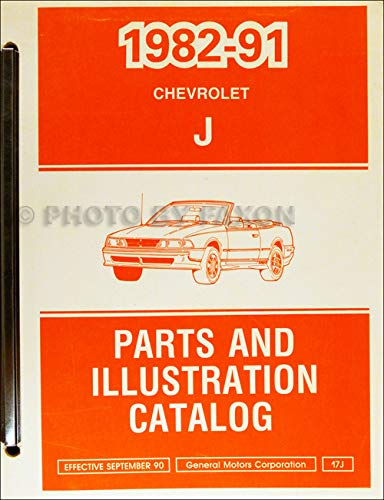 1982-1991 Chevrolet Cavalier Parts Book Original