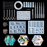 Jeteven Resin Casting Mold Kit Silicone Mold Making Jewelry Pendant Mould Craft DIY Set
