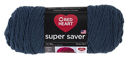 - Red Heart E300.0380 Super Saver Yarn, Windsor Blue