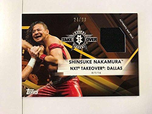 2017 Topps NXT Mat Relics #MR-SH Shinsuke Nakamura NXT TakeOver: Dallas 2016 NM-MT MEM from NXT