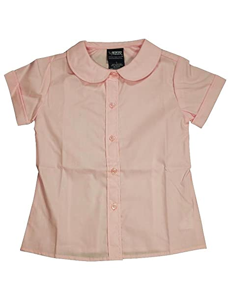970331ea1 Amazon.com: French Toast - Girls Short Sleeve Peter Pan Blouse, Pink ...