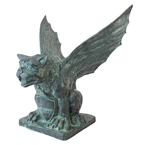 Design Toscano Winged Gargoyle of Naples Bronze Garden Statue