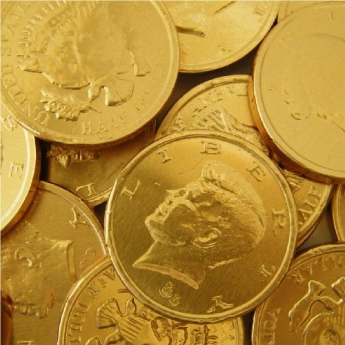 Chocolate Gold Coins Bulk - Chocolate Large Gold Coins 5lb (Basic)