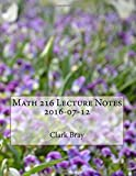 Math 216 Lecture Notes, 2016-07-12