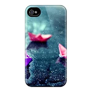 BrownCases Iphone 4/4s Hybrid Tpu Case Cover Silicon Bumper Raining Today