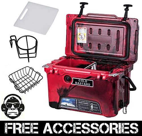 20QT CAMO RED COLD BASTARD Rugged Series ICE CHEST COOLER Free Accessories YETI Quality Free S&H (Series Baskets Cb)