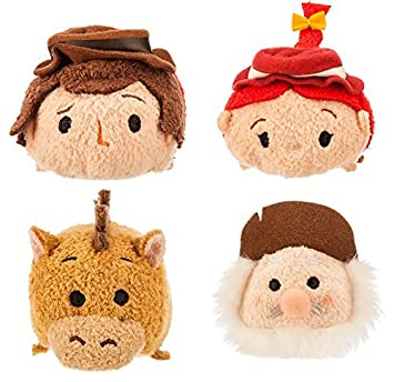 Disney Store Toy Story Movie 3.5 Mini Tsum Tsum Woodys Round Up Set of 4 Characters