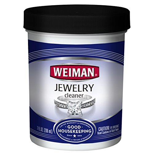 Weiman Jewelry Cleaner Liquid - Restores Shine and Brilliance to Gold, Diamond, Platinum Jewelry and Precious Stones - 7 Ounce