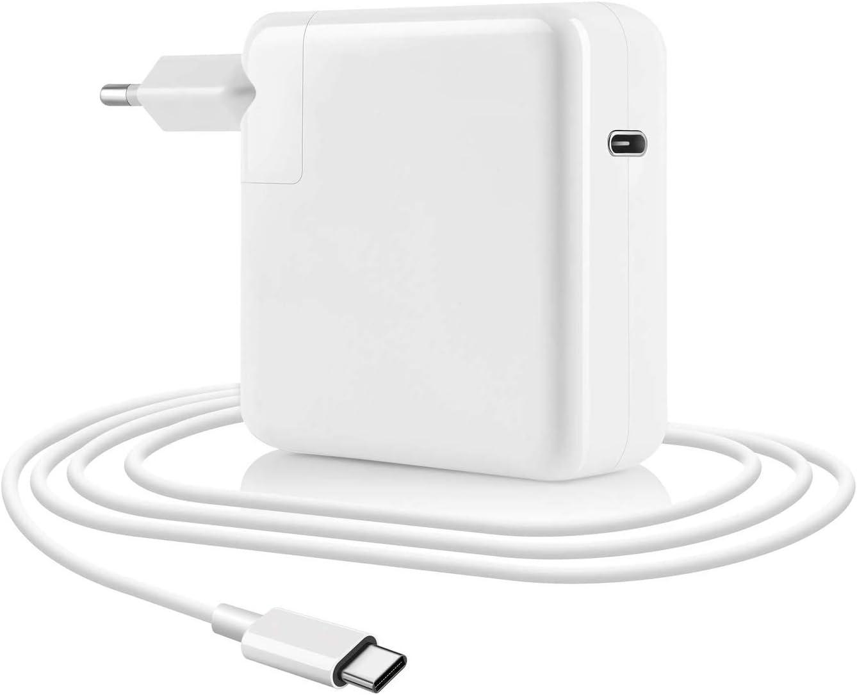 BETIONE Cargador USB 87W, cargador TYPE C cargador rápido, 1 puerto con suministro de energía para Mac Book 13