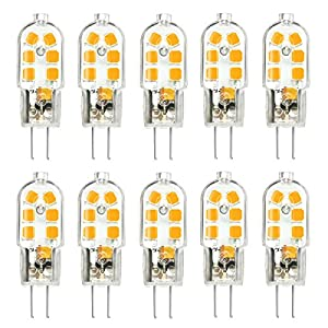 Kingso 10 Pack G4 Led Leuchtmittel Warmweiss 3w 250lm Ersatz Fur 25w