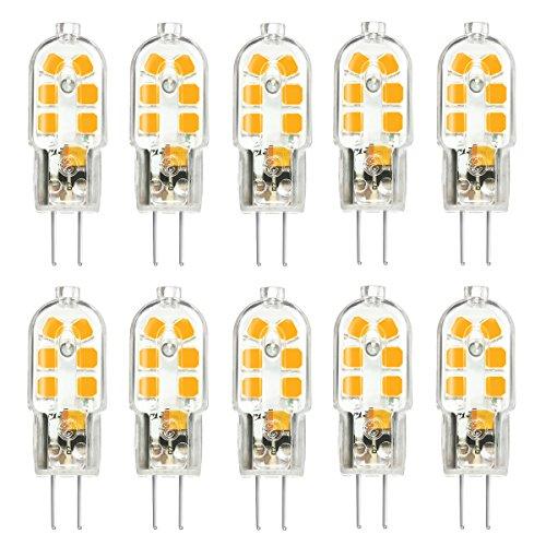 G4 LED Bulb 10 Pack, KingSo Bi-Pin Base, 20W Halogen Bulb Equivalent, AC/DC 12 Volt, Warm White 3000K