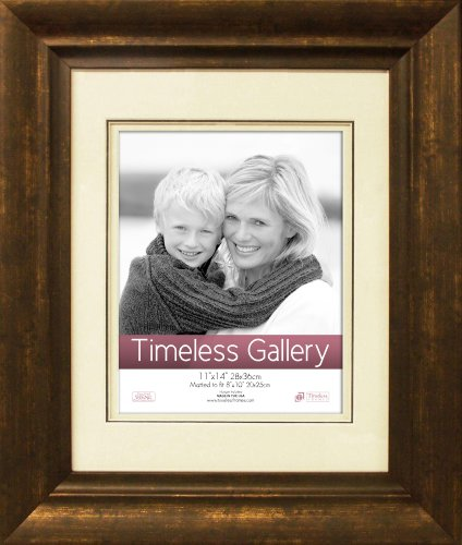 Timeless Frames 11x14 Inch Fits 8x10 Inch Photo Zach Wall Frame, Bronze