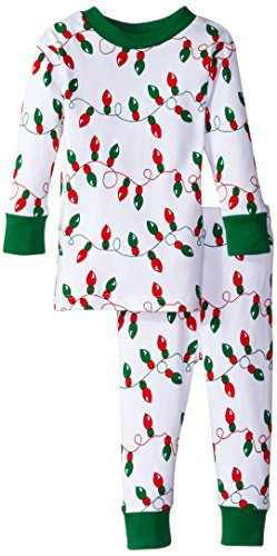 New Jammies Baby Boys' Organic Pajamas Christmas Lights