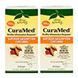 Terry Naturally/EuroPharma CuraMed 750mg BCM-95 Curcumin, 120 Softgels -2 Pack