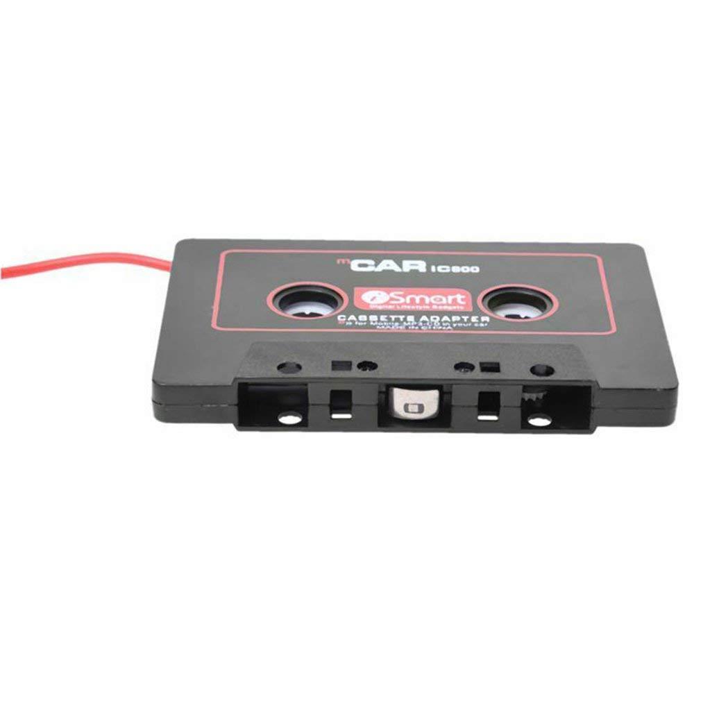 Car Audio Systems Car Stereo Adaptador De Cinta De Cassette para Tel/éfono M/óvil Mp3 Aux B8T5 Negro Rojo Color Duradero Negro Rojo