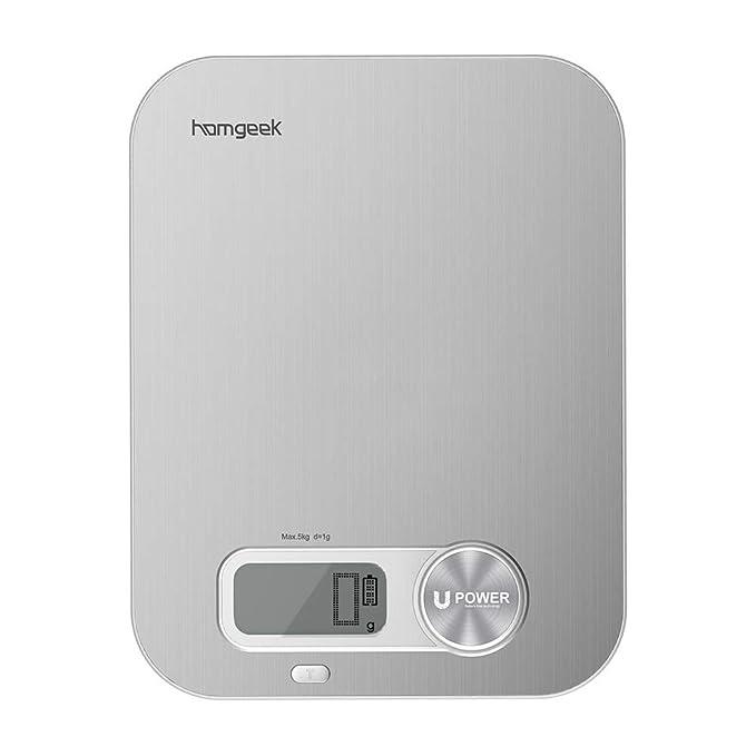 d326f4e07b79 Amazon.com: AppleLand Homgeek Battery Free Kitchen Scale with Large ...