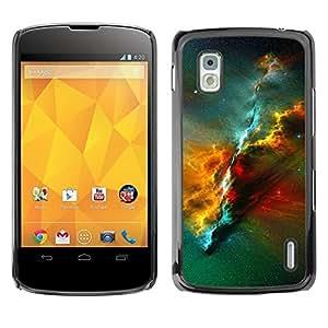 Be Good Phone Accessory // Dura Cáscara cubierta Protectora Caso Carcasa Funda de Protección para LG Google Nexus 4 E960 // Universe Awe Inspiring Cosmos Star Cluster