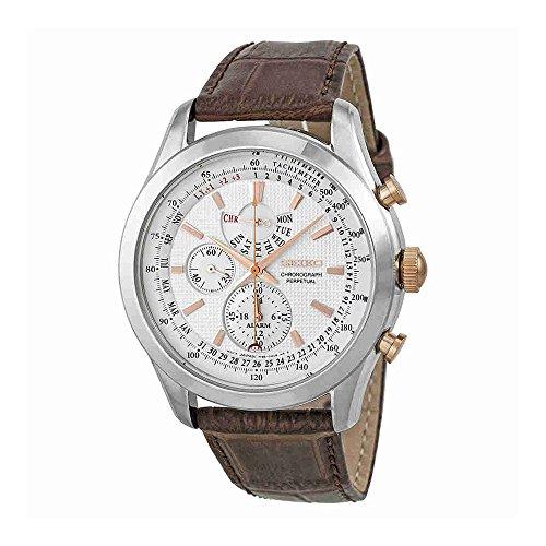 Seiko Alarm Watch (Seiko Men's SPC129P1 Neo Classic Alarm Perpetual Chronograph White Dial Brown Leather Watch)