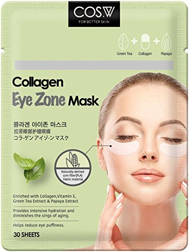 COS.W Smoothing Collagen Eye Pads with Vitamin E for Dark Circles and Puffiness (60 Count) Collagen Filler Eye