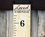 DIY Vinyl Growth Chart Ruler Decal Kit, Loved Beyond Measure