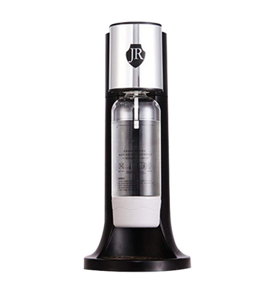Yunt Household Soda Bubble Machine Tea Shop Homemade Carbonated Drink Machine with Bottle CO2 Cylinder Cartridge(Black)
