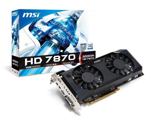MSI AMD Radeon HD 7870, 2GB GDDR5, PCI Express 3.0 Graphics Card R7870-2GD5T/OC