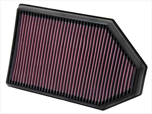 K&N engine air filter, washable and reusable:  2011-2019 Chrysler/Dodge V6/V8 (Charger, Challenger, 300) 33-2460