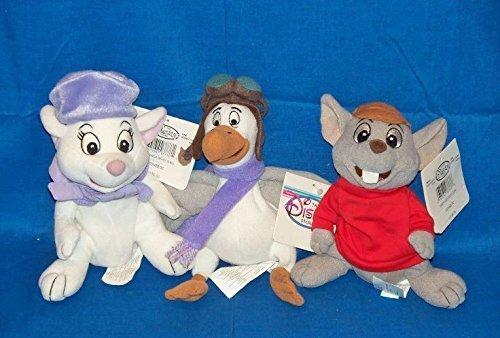 Disney the Rescuers Bernard, Bianca and Orville Bean Bag Set ()