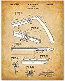 fuji facial steamer - Barber's Razor - 11x14 Unframed Patent Print - Great Gift for Barbers and Barber Shops