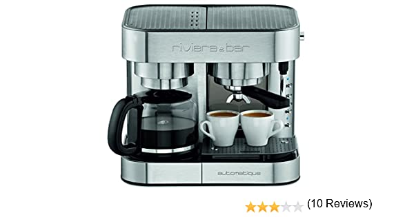 Riviera & Bar CE542A - Cafetera combinada espresso/goteo, color ...