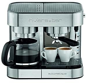 Riviera & Bar CE542A - Cafetera combinada espresso/goteo, color gris (importado)