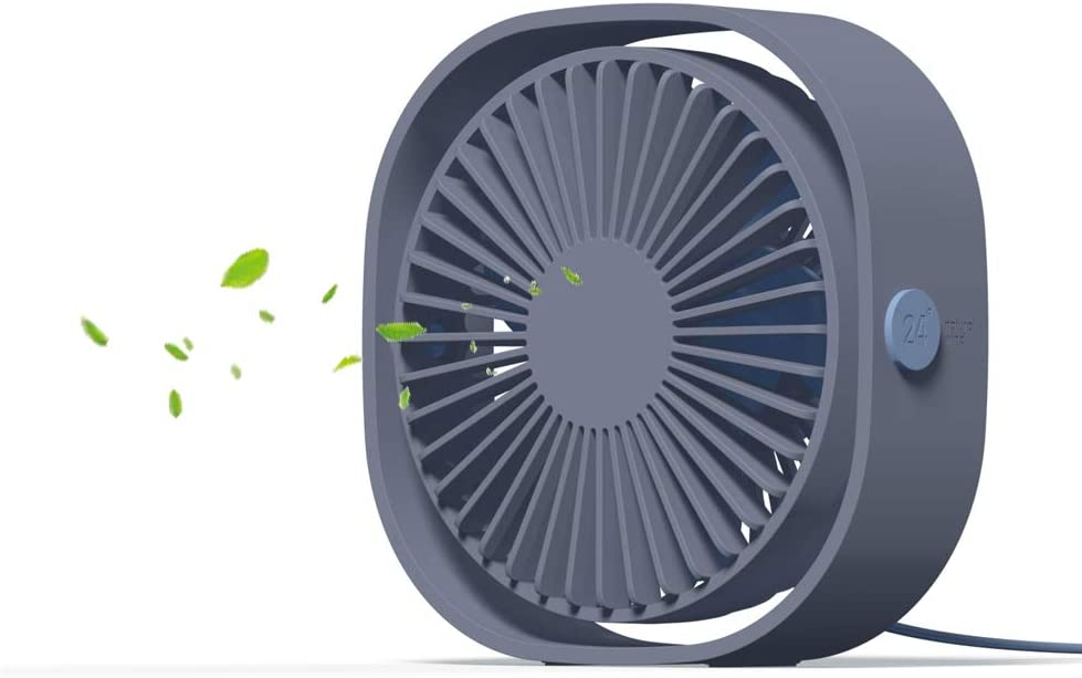 Small Desktop Fan Quiet USB Air Circulator Fan with Anti-Slip Pad, Perfect Cooling for Office, Dorm,Camp,Laptop,Library