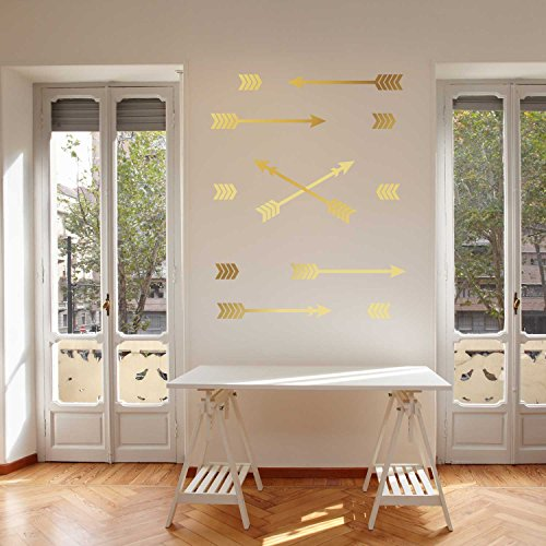 Chevron Arrow Decal Set - Gold Kiss Cut Arrow Decal by Chromantics (Wallpaper Gold Chevron)