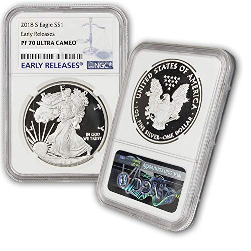 2018 S American Silver Eagle Proof Coin $1 PF70UCAM NGC Early Releases American Silver Eagle Proof Coin