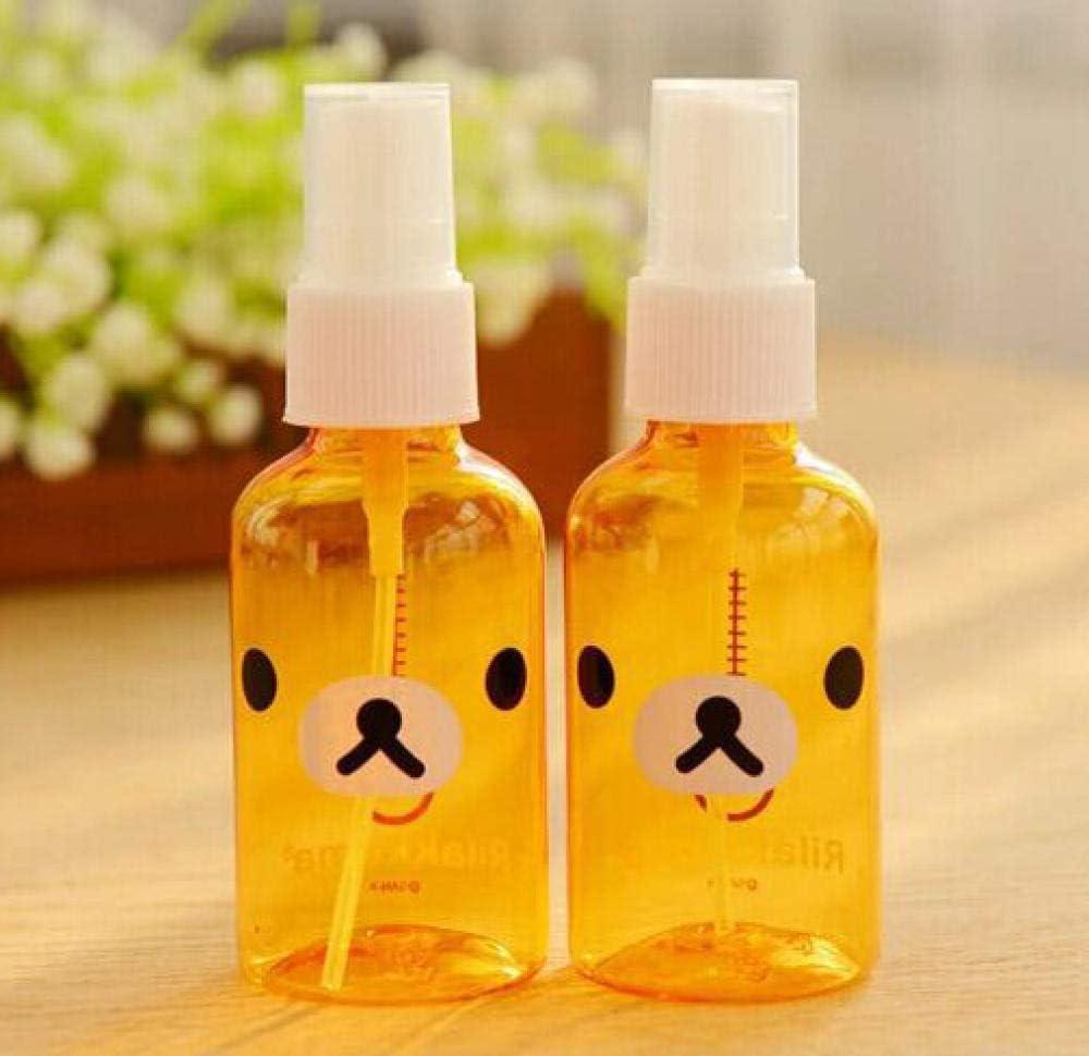 50ml Botella de Spray de Dibujos Animados Lindo Botella de Spray de plástico portátil Puede Contener Botella de desinfectante de Alcohol
