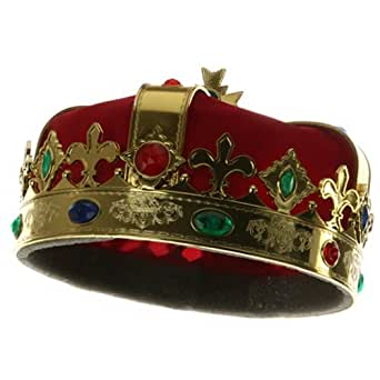 official photos a7494 5c272 Amazon com Kings Crown Red Costume Hat for Royal King