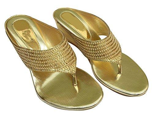 Trinn Damene N Tbar Sandaler Bryllup Diamante Stil Nye Sko Indiske Peep Toe Mid Hæl trtwq6xId