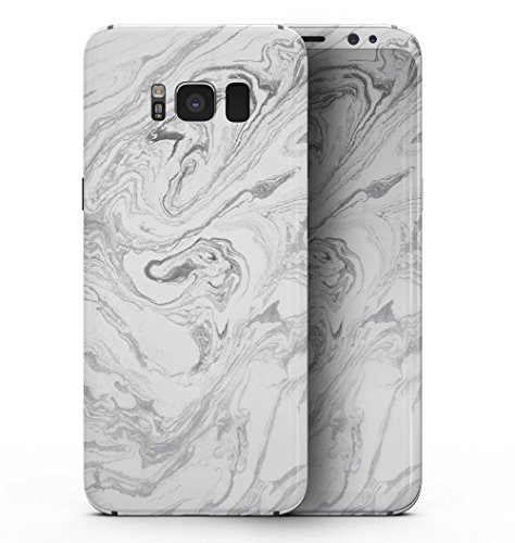 Mixtured Gray v7 Textured Marble - DesignSkinz Ultra-Thin / Precision-Fit Full Body Skin Kit for the Galaxy S8 Plus + / Slim-fit Decal V7 Ultra Protective Sleeve