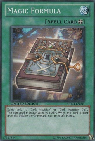 Yu-Gi-Oh! - Magic Formula (GLD4-EN044) - Gold Series 4: Pyramids Edition - Limited Edition - Common (Magic Formula)