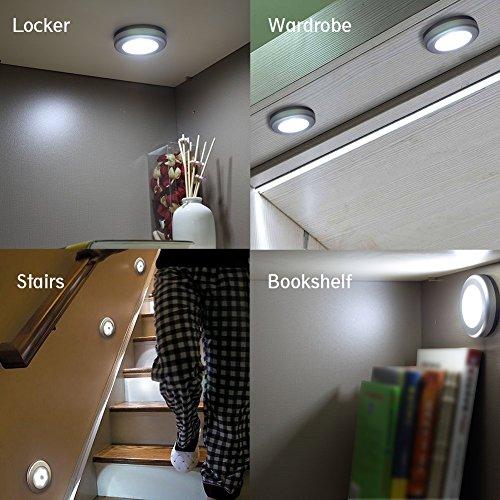 URPOWER Motion Sensor Closet Light, Motion-sensing Battery Powered LED Stick-Anywhere Nightlight,Wall Light for Entrance,Hallway,Basement,Garage,Bathroom,Cabinet,Closet by URPOWER (Image #5)